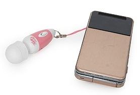 電マ本体【フェアリーベイビー】携帯ストラップ代わりにした時